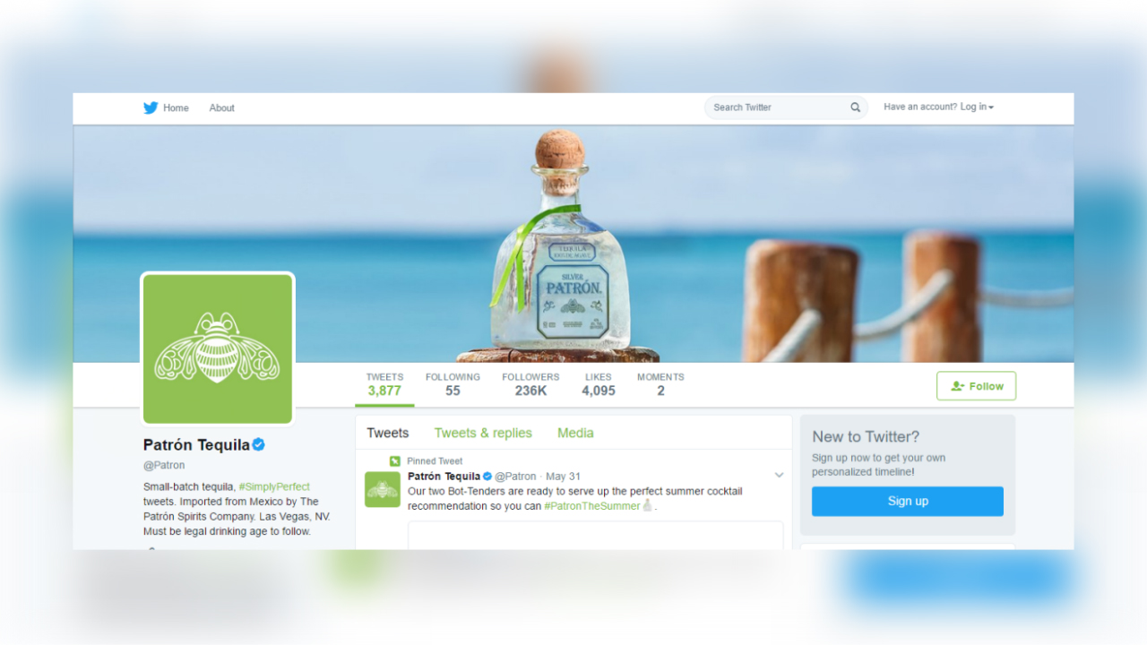 Twitter Launches Direct Messaging Card For Brands Marketing - Drinking age in mexico