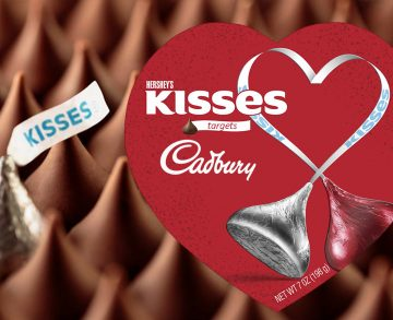 Harshey's target Cadbury with kisses